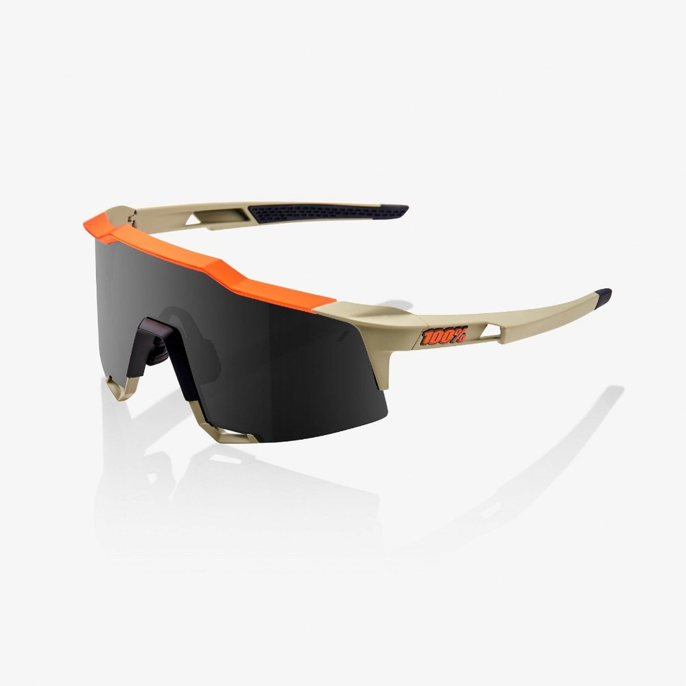 100% Brille Speedcraft, sand/orange mit Glas: Smoke