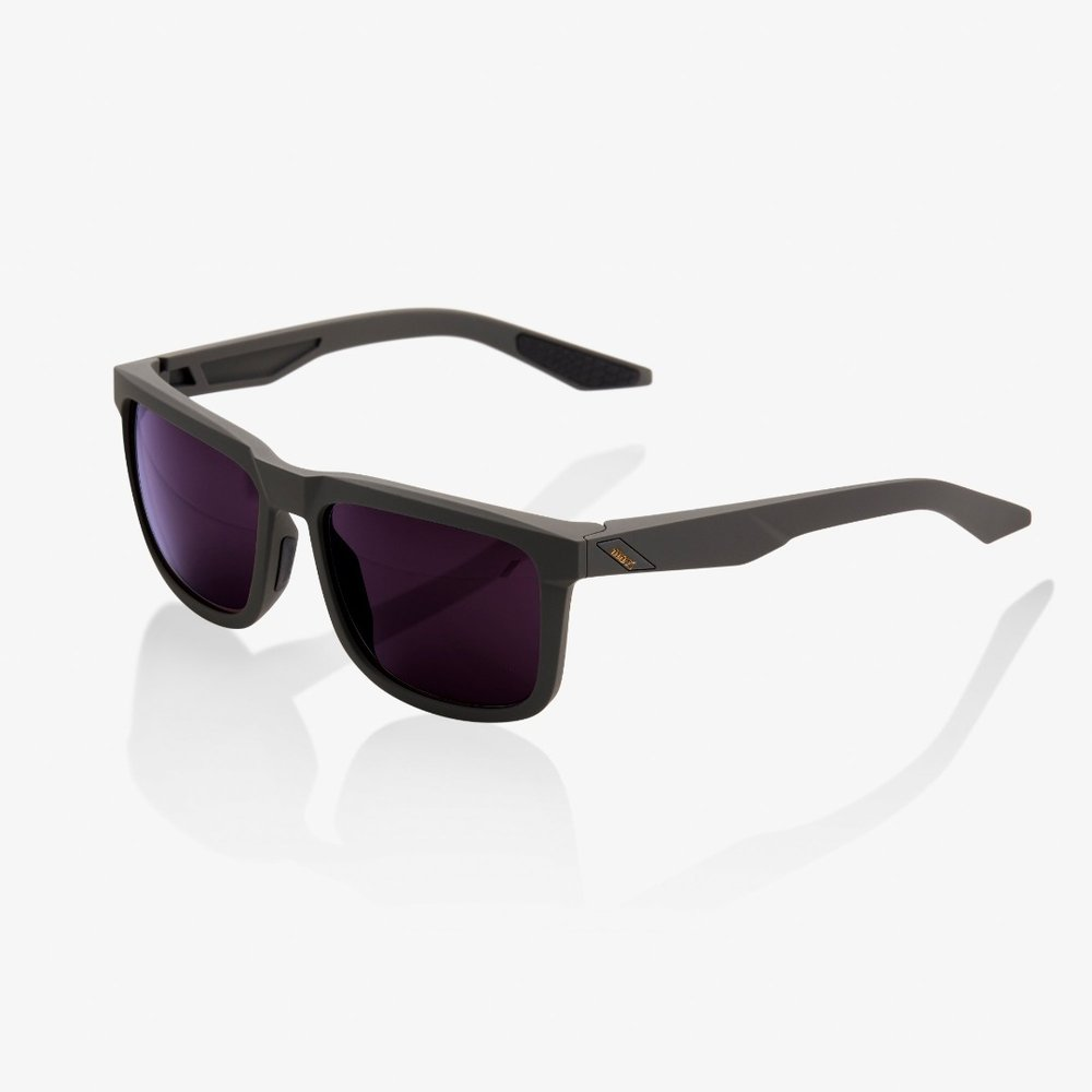 100% Brille Blake, matt grau mit Glas: Purple
