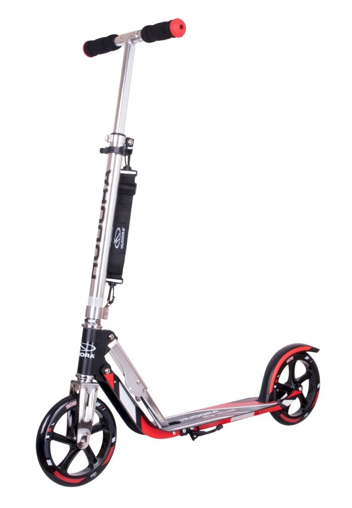 HUDORA Alu-Scooter Big Wheel RX 205 schwarz/rot